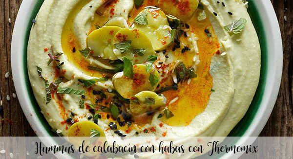 Hummus cukiniowy z fasolą z Thermomixem