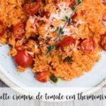 Kremowe risotto pomidorowe z termomiksem
