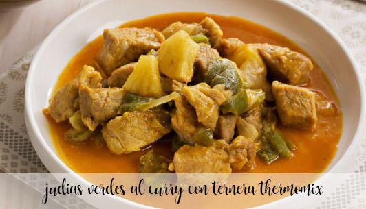 Curry z fasoli szparagowej z wołowiną z Thermomixem
