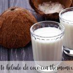 kokosowa herbata mrożona z termomiksem