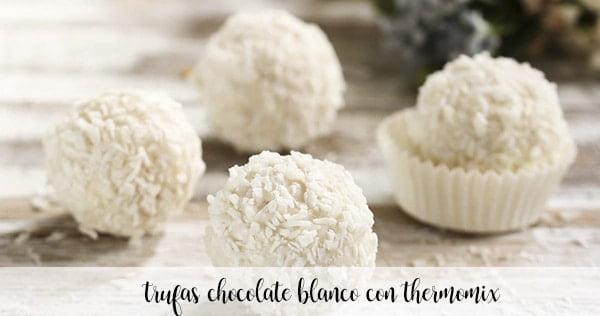 Trufle z białej czekolady z Thermomixem