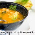 Zupa z ciecierzycy ze szpinakiem z Thermomixem