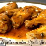Skrzydełka z kurczaka z sosem Alfredo Thermomix