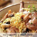 Ryż z królikiem i pieczarkami z Thermomixem