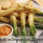 Calçots w tempurze z Thermomixem