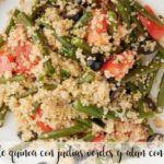 Sałatka z komosy ryżowej, fasolki szparagowej i tuńczyka z Thermomixem