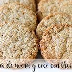 Ciasteczka owsiane i kokosowe z Thermomixem