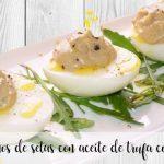 Jajka nadziewane pieczarkami z oliwą truflową z termomiksem