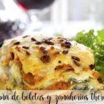 Thermomix lasagne z borowików i marchwi