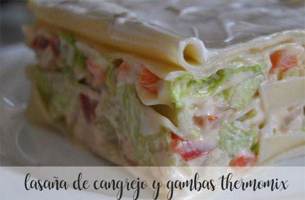 lasagne z kraba i krewetek z termomiksem