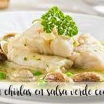 Morszczuk w zielonym sosie z chirlas i krewetkami z Thermomixem