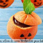 Pomarańcze nadziewane czekoladą na Halloween z termomiksem