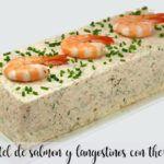 Ciasto łososiowo-krewetkowe z Thermomixem