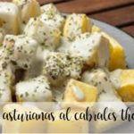 Ziemniaki z Asturii z serem Cabrales z Thermomixem