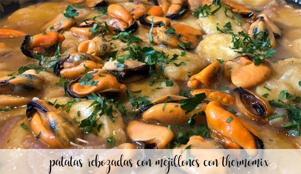 Ziemniaki panierowane z małżami z Thermomixem