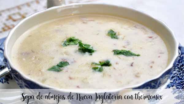 Zupa z małży z Nowej Anglii z termomiksem