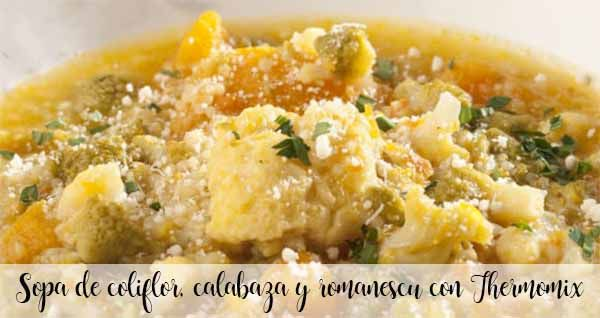 Zupa kalafiorowa, dyniowa i romanescu z Thermomixem