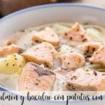 Zupa z łososia i dorsza z ziemniakami z termomiksem
