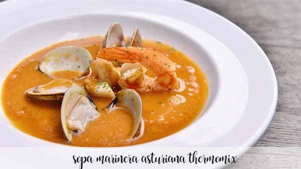 Zupa z Asturii z owocami morza z Thermomixem