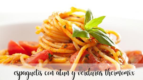 Spaghetti z tuńczykiem i warzywami z termomiksem