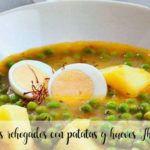 Smażony groszek z ziemniakami i jajkiem z Thermomixem