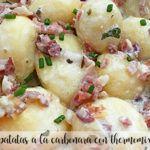 Ziemniaki carbonara z termomiksem