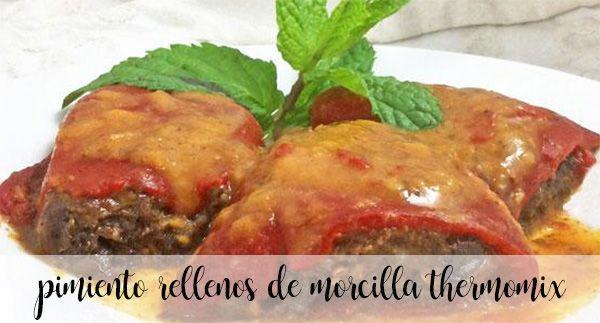 Papryczki Piquillo faszerowane kaszanką z termomiksem