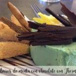 Babarois miętowy z czekoladą z Thermomixem