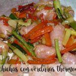 Kiełbasy z warzywami z termomiks