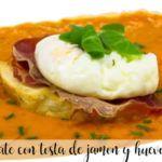 Zupa pomidorowa z szynką i grzanką jajeczną z termomiksem
