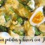 Brokuły z ziemniakami i jajkami z Thermomixem