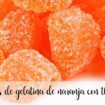 Pomarańczowe cukierki żelowe z termomiksem