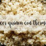 Gotuj komosę ryżową z termomiksem