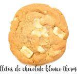 Ciasteczka z białej czekolady z Thermomixem