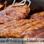burgery wołowe i sobrasada z termomiksem