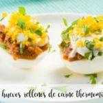 Jajka nadziewane mięsem z termomiksem