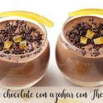 Mus czekoladowy z kwiatem pomarańczy z Thermomixem