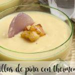 Naturalny budyń ananasowy z termomiksem