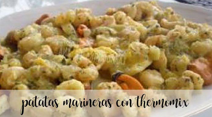 Ziemniaki z owocami morza z Thermomixem