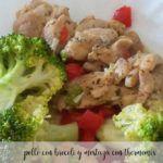 Kurczak z brokułami z sosem porowo-musztardowym z termomiksem