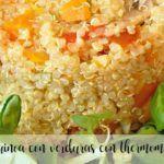 Komosa ryżowa z porem i cukinią z termomiksem