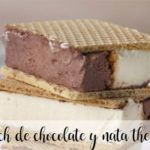 Kanapka z lodami czekoladowo-śmietanowymi z Thermomixem