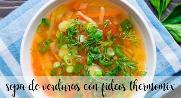 Zupa jarzynowa z makaronem z termomiksem