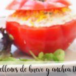 Pomidory nadziewane jajkiem i anchois z Thermomixem