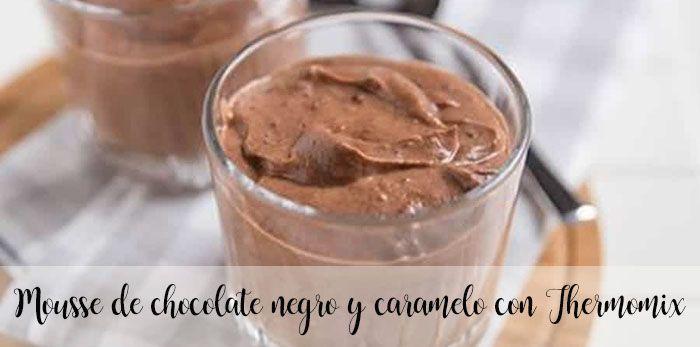 Mus z gorzkiej czekolady i karmelu z Thermomixem