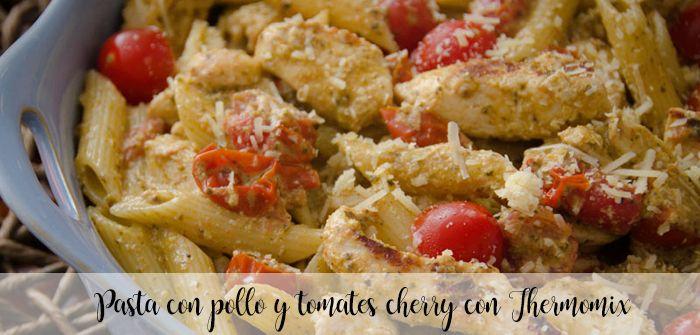 Makaron z kurczakiem i pomidorkami koktajlowymi z Thermomixem