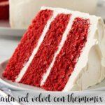 Ciasto termomiksowe z czerwonego aksamitu