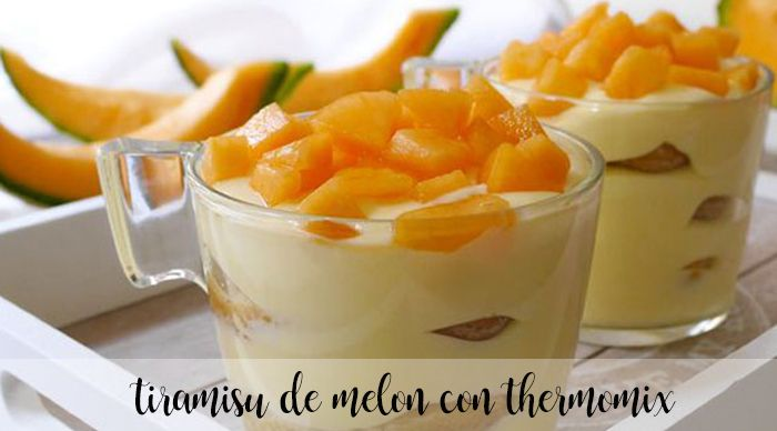 Melonowe tiramisu z termomiksem