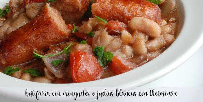 kiełbasa z monguetes lub białą fasolą z termomiksem