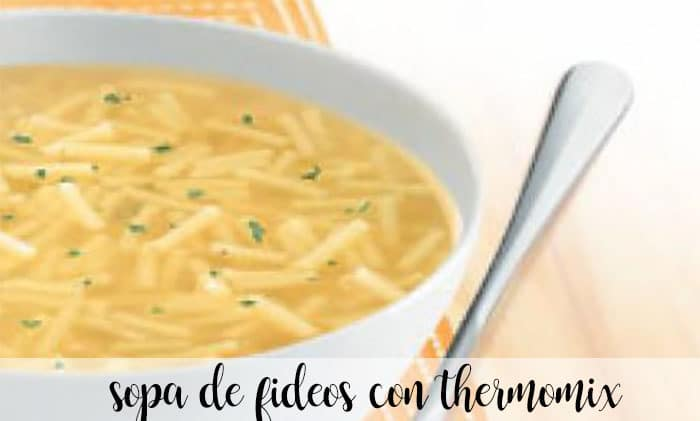 Zupa z makaronem z Thermomixem